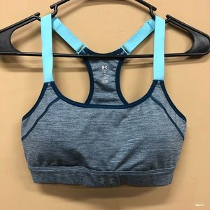 Under Armour Teal Sports Bra Fitted Size Small